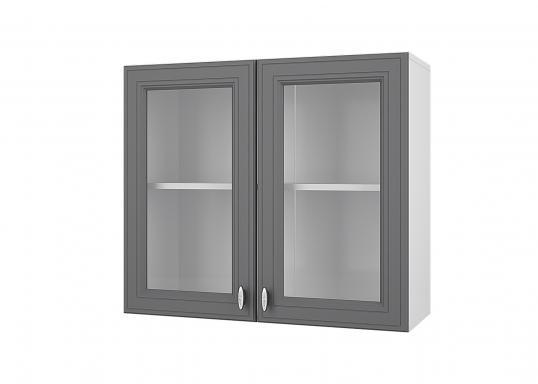 Кухня Ева шкаф витрина 80 верхний