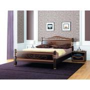 Кровать Карина-5 (Темный Орех)