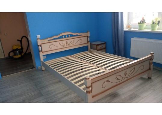 Кровать Карина-5 (Молочный Дуб)