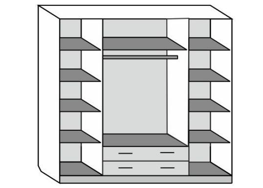 Шкаф Лакированный 4-створчатый