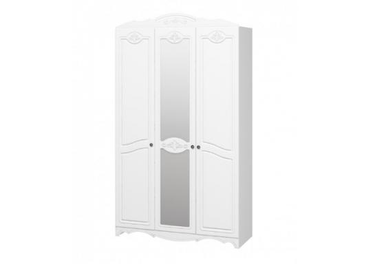 Шкаф 3 створчатый Лотос (Белый)