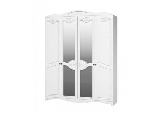 Шкаф 4 створчатый Лотос (Белый)