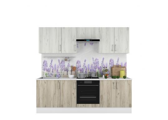 Кухня Европа 2400 Белый/Серый Крафт