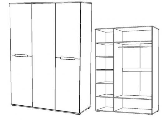 Шкаф 3х дверный Вегас