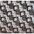 Коричневые квадраты (флок на рогожке)