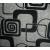Черные квадраты (флок на рогожке)